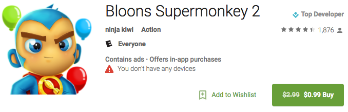 google play strikethrough sale pricing